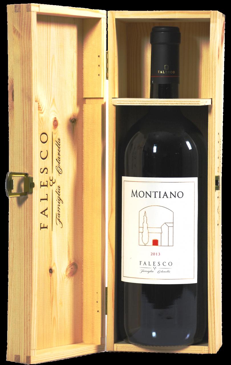 Montiano Falesco Vino Lazio Rosso IGP - 1.5 L Magnum in Holzkiste