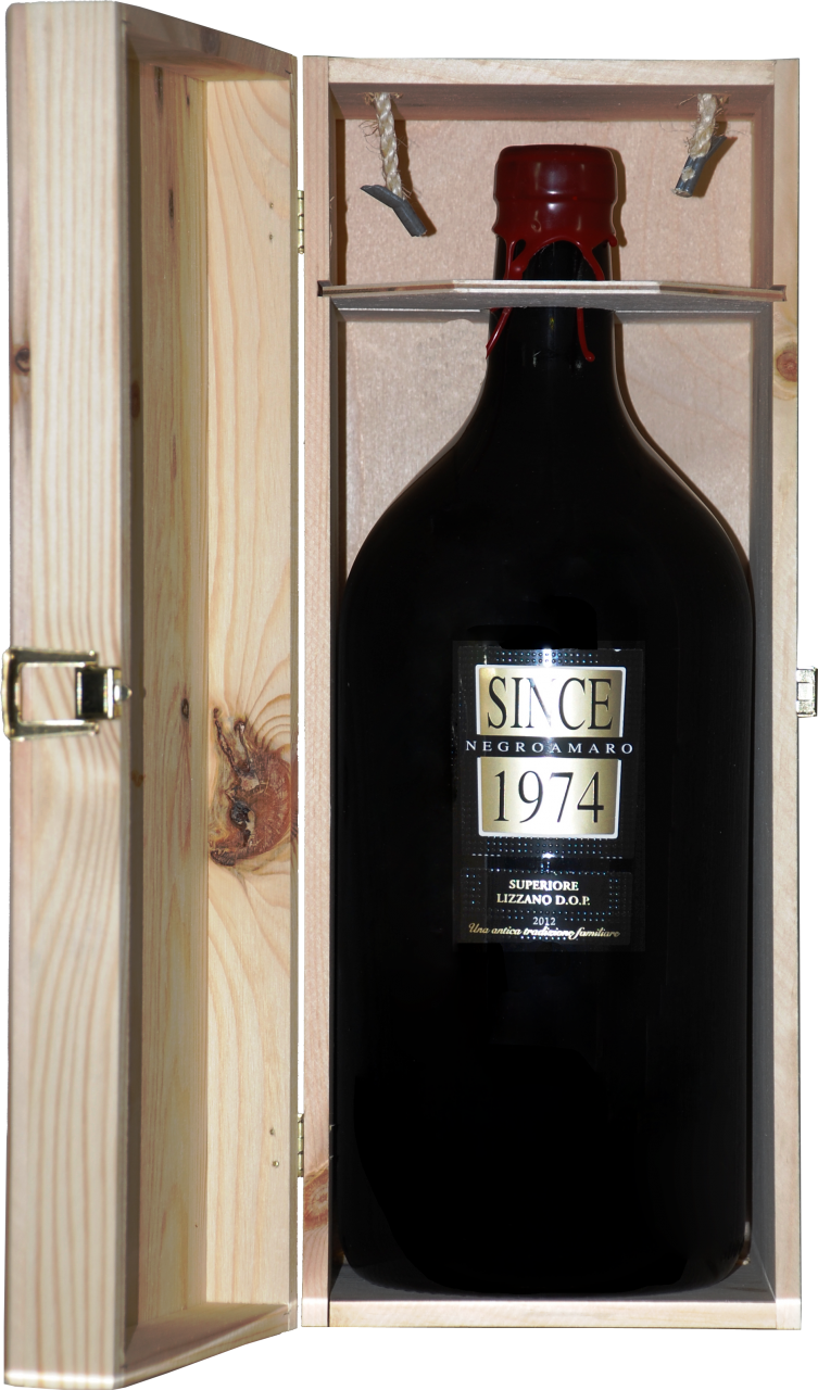 Since 1974 Negroamaro Superiore DOP - 3.0 L Doppelmagnum in Holzkiste