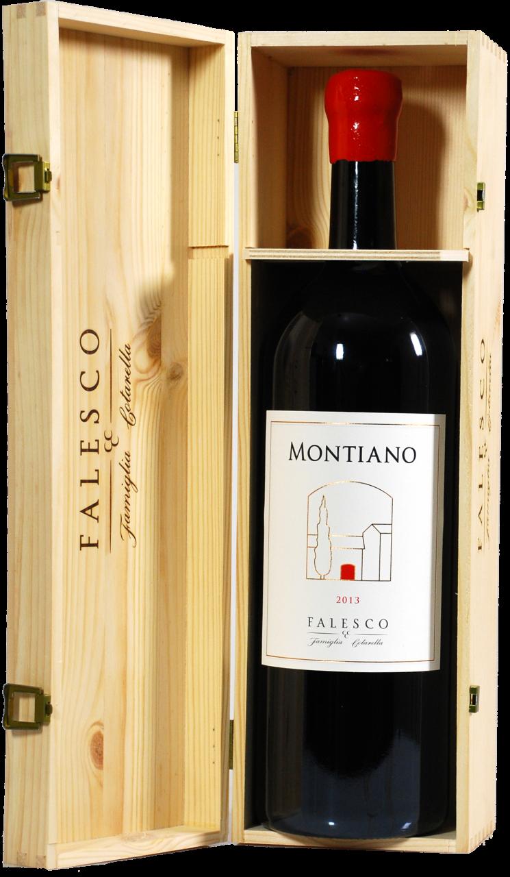 Montiano Falesco Vino Lazio Rosso IGP - 3.0 L Doppelmagnum in Holzkiste