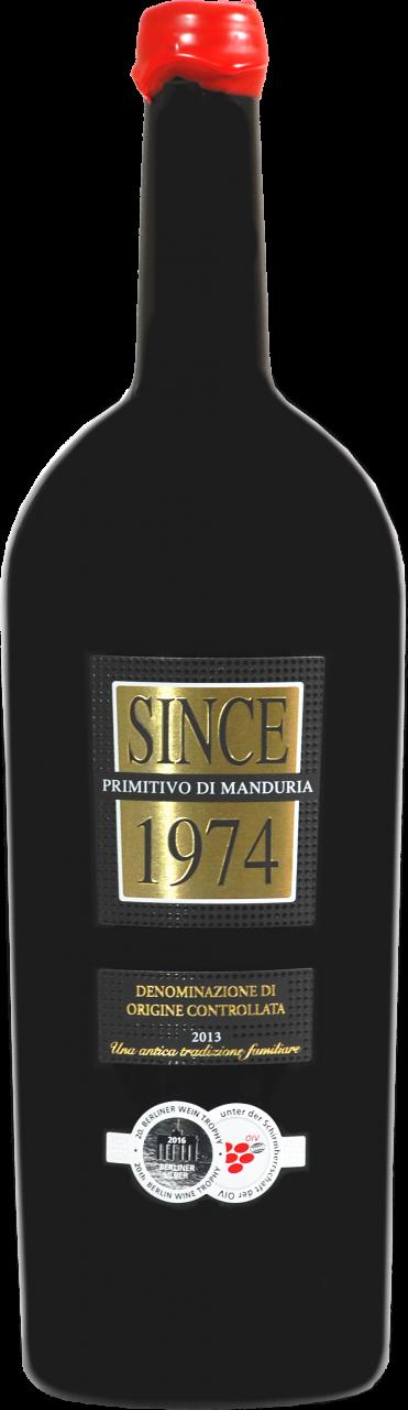 Since 1974 Primitivo di Manduria DOP - 1.5 L Magnum in 3er Karton