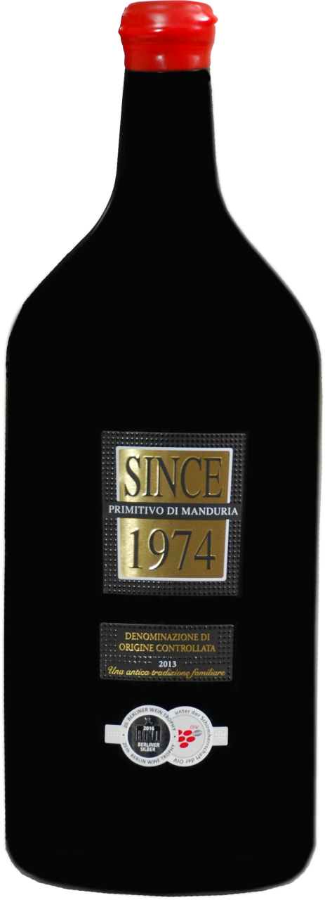 Since 1974 Primitivo di Manduria DOP - 3.0 L Doppelmagnum in 1er Karton
